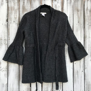 Design History belted wool cardigan sweater SZ L